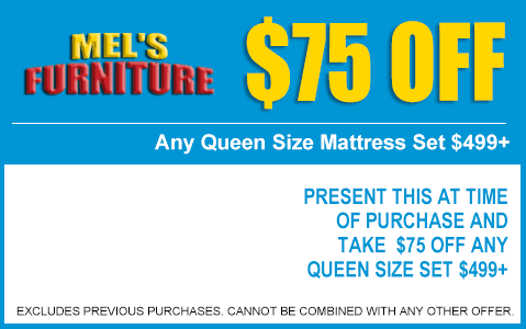 $75 Off Queen Mattresses