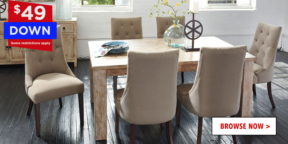 $49 Down for Dinning Room Sets
