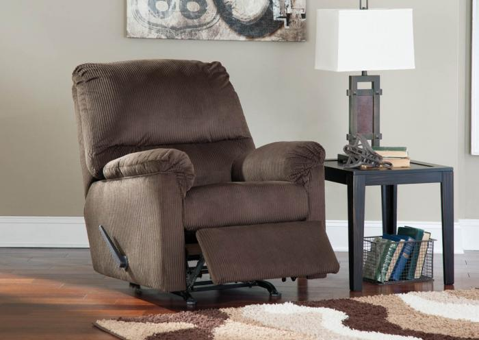 Brown Recliner,In-store