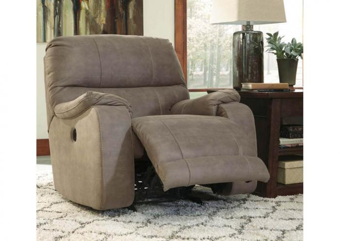 Brown Power Recliner,In-store