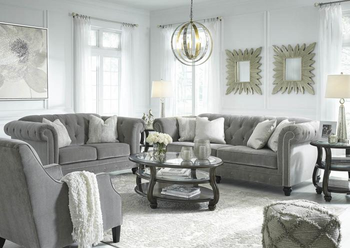 Gray Sofa, Loveseat and Chair,In-store