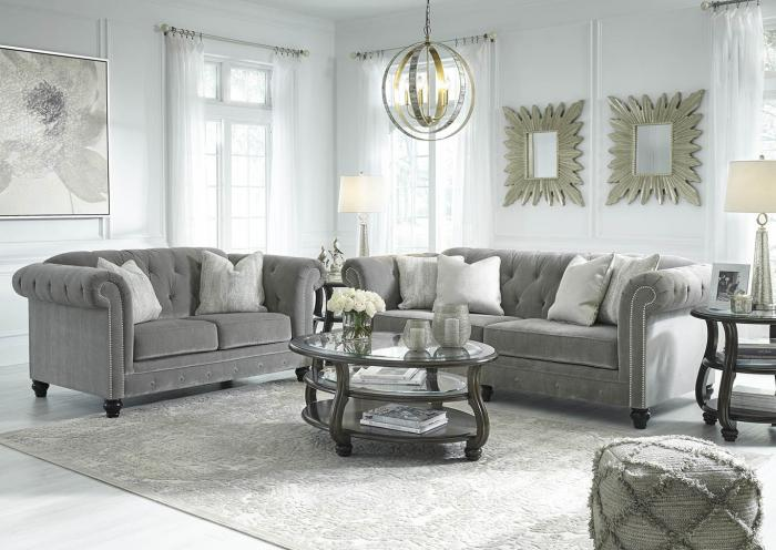 Gray Sofa and Loveseat,In-store