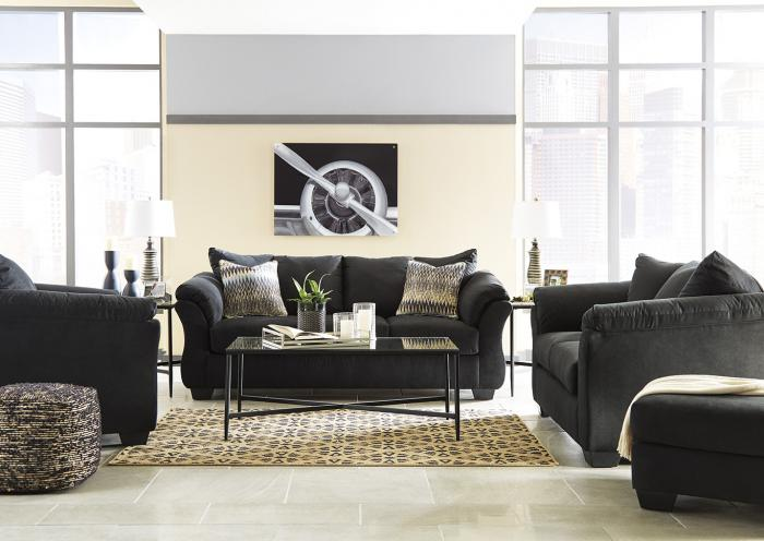 Black Sofa, Loveseat and Chair,In-store