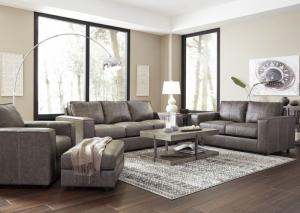 Gray Sofa, Loveseat and Chair