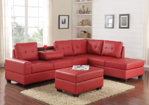 2Heights Red Sectional