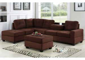 4Heights Chocolate Sectional