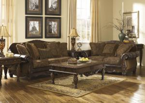 Brown Sofa, Loveseat and Chair
