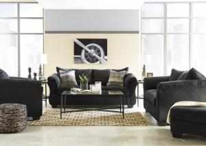 Black Sofa, Loveseat and Chair
