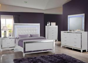 Queen Bed, Dresser, Mirror, Chest, and Nightstand