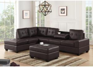 Heights Espresso Sectional