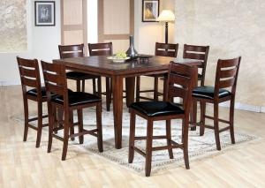 Urbana Cherry Counter Height Table w/6 Chairs and Bench