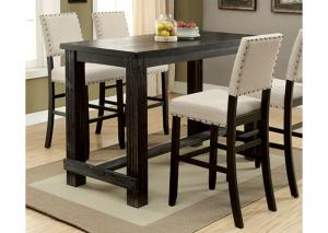 Image for Sania II Antique Black Bar Table w/4 Chairs