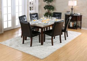 Marstone Brown Cherry Dining Table w/4 Chairs