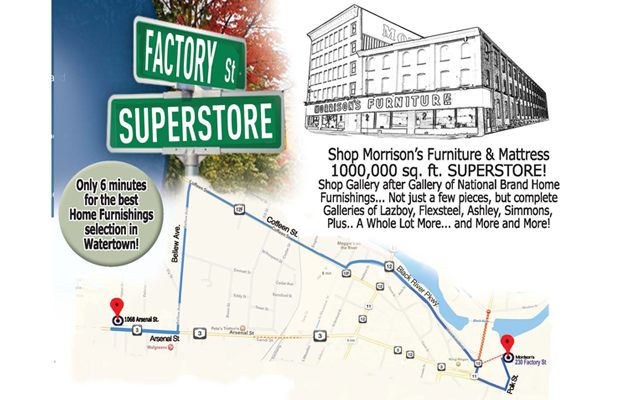 Morrisons Furniture Store Map