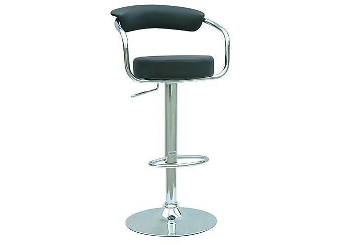 Round Seat with Arms, Hydraulic Stool, Black (also available in Grey),Mr Bar Stool