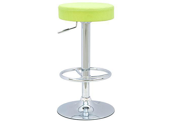 Backless Pneumatic Gas Lift Adjustable Stool Round Seat Green,Mr Bar Stool