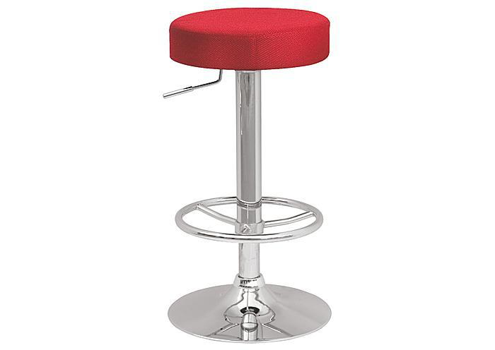 Backless Pneumatic Gas Lift Adjustable Stool Red,Mr Bar Stool