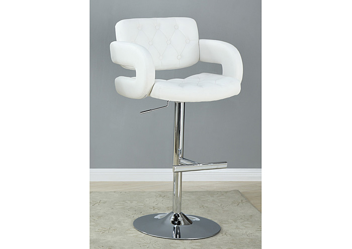 Tufted White & Chrome 30