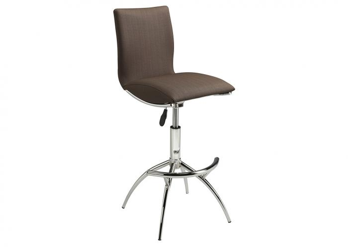 CAPPUCCINO POLISHED CHROME BARSTOOL,Mr Bar Stool