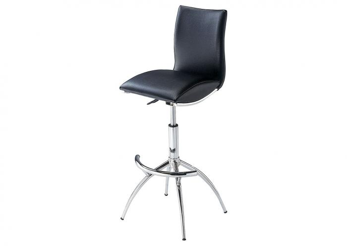 BLACK POLISHED CHROME BARSTOOL,Mr Bar Stool
