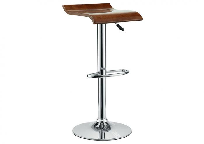 WOOD SEAT POLISHED CHROME BARSTOOL,Mr Bar Stool