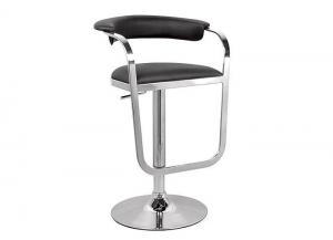 Zip Hydraulic Swivel Bar Stool, Black