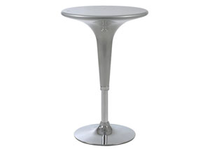 Clark Silver Adjustable Table