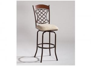 Lattice Memory Return Swivel Counter Stool