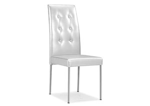 Tuft Dining Chair - Silver (Pack of 4)