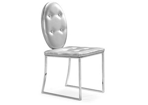 Goth Dining Chair - Silver (Pack of 2)