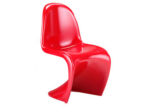 S Chair - Red (Pack of 2)
