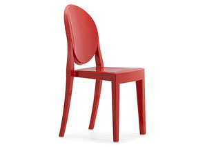 Anime Armless Chair - Red (Pack of 4)