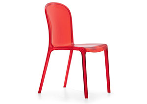 Gumdrop Chair - Transparent Red (Pack of 4)