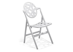 Meringue Folding Chair - White (Pack of 4)