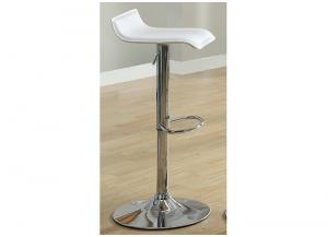120 Hydraulic Bar Stool  White SET OF 2