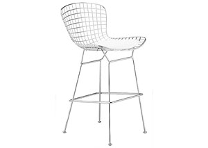 Wire Bar Chair - Chrome (frame) (Pack of 2)