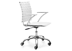 Criss Cross Office Chair - White