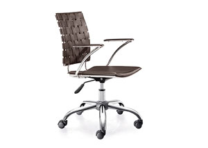Criss Cross Office Chair - Espresso