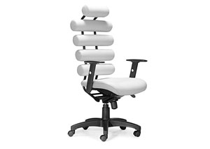 Unico Office Chair - White (PU)