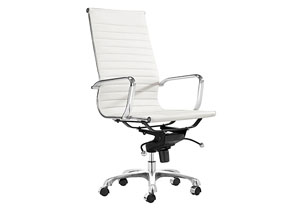 Lider Office Chair - White (hi-back)