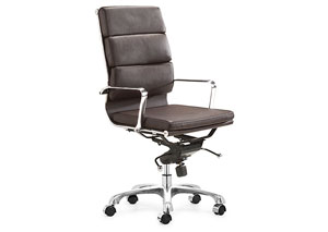 Director Office Chair - Espresso (hi-back)
