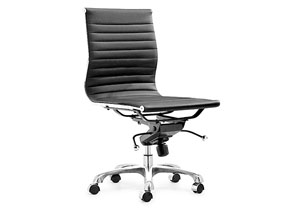 Lider No Armrest Office Chair - Black