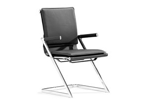 Lider Plus Conference Chair - Black (Pack of 2)