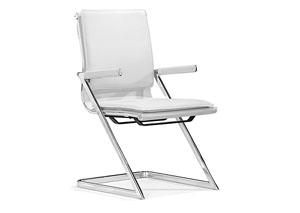 Lider Plus Conference Chair - White (Pack of 2)