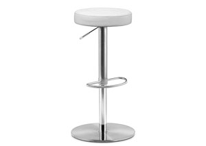 Mellow Adjustable Bar Stool - White