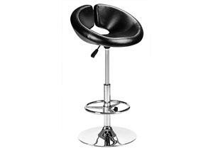 Chalice Adjustable Bar Stool - Black