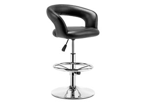 Flute Adjustable Bar Chair - Black