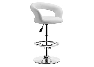 Flute Adjustable Bar Chair - White