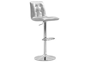 Oxygen Adjustable Bar Stool - Silver