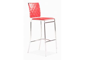 Criss Cross Bar Stool - Red (Pack of 2)